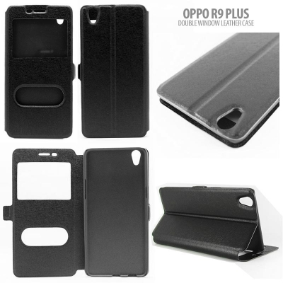 Oppo R9 Plus - Double Window Leather Case